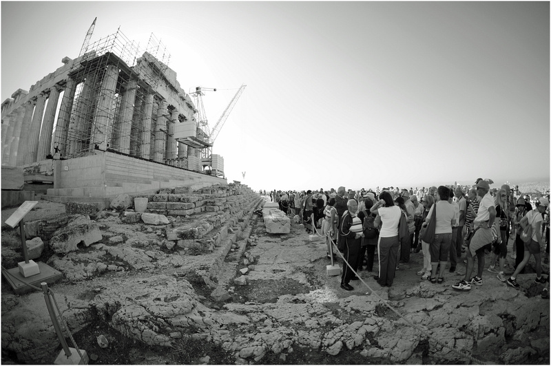 Parthenon. Distortion from an 8 mm lens.