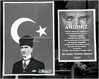 Street scene: Ataturk, founder of modern Turkey